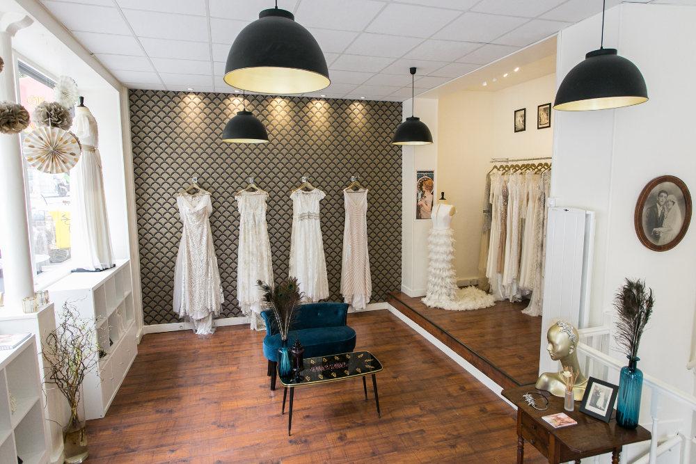 Notre boutique de robes de mariée - Plume Paris