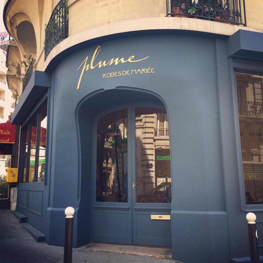 Robe de mariée bohème - Plume Paris